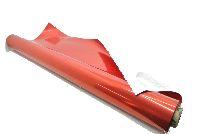 Folie metallise / Glanzfolie ROT-silber 70cm/50m Geschenkfolie