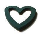 Oasis® Bioline® GRÜN mit drei Vakuumsaugern Vacufix Herz Offen 60x60x5,5cm