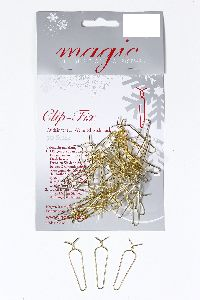 Clip Fix Aufhänger GOLD 19000850 4cm 50 Stück für Weihnachtsschmuck