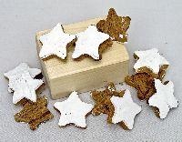 Kokosnuss Sterne ZIMT-weiss 4cm 100St. 01505