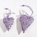 Herz Lavendel LILA-WEISS 96805 Hänger, 10cm
