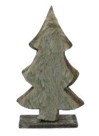 Holz-Fell Tanne zum Stellen BRAUN-GRAU-CREME 30cm  80296