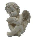 Engel Samuel stein-weiss 13384 17,5x14,5x13cm Polyresin