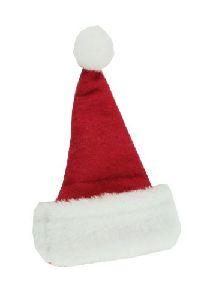 Nikolausmütze/Weihnachtsmütze ROT-WEISS Filz mit Kunstfell 15x11cm 14889
