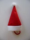 Nikolausmütze/Weihnachtsmütze ROT-WEISS  13129 16x9,5cm  Filz