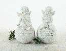 Engel auf Kugel mit Spruch CREME-GLITTER  8212 17,5cm
