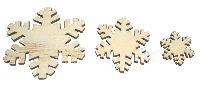 Streusortiment Holz-Mix NATUR 85-0774 2x7cm 16 Stück Schneeflocken-Mix 10x3cm/4x5cm