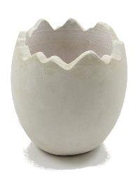 Ei gebrochen Keramik WEISS-MATT 14,5x16cm 81130