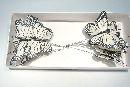Schmetterling Stecker WEISS 9,5cm 14138