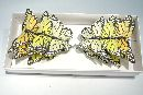 Schmetterling Stecker GELB-GEMISCHT 9,5cm 14138