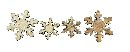 Streusortiment Siso WHITE WASHED 34652 2,5+3,5cm Schneeflocke/Klebepad/Holz