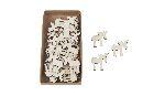 Streu Wooden NATUR 13682 Elch 4,5x4,5cm 30 Stück