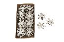 Streu Wooden NATUR 13683 Schneeflocke 5x5cm 20 Stück