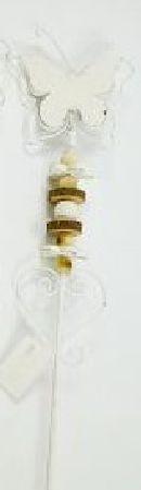 Holzstecker NATUR 67914 Schmetterling 73x10,5cm
