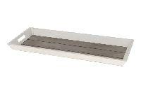 Dekotablett / Holztablett 98598 WHITE WASH 50x38cm