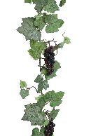 Weinlaubgirlande / Weinranke WEINROT 58026 mit Trauben 180cm