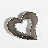 Herz Quenta Streu / Aufhängöse SILBER 15846 3x3,5x0,3cm Plastik 60 Stück