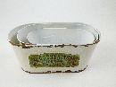 Metall JardinierensetGardening CREME-BRAUN 28x14x11,5cm 18830 /20x10,5x10,5/25x12x11/