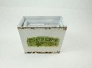Metall Topfset Gardening CREME-BRAUN 20,5x15x15cm eckig 15,5x10x11/18x12,5x13/
