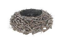 Pflanzgefäss Cotton Root GRAU-WASH 45x14cm 16431