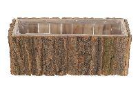 Birkentopf 22780 NATUR eckig 31x12x11cm mit Folie