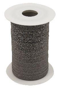 Kräuselband Glamour DUNKELBRAUN 8146 Ziehband Breite 5mm  Rolle=150Meter