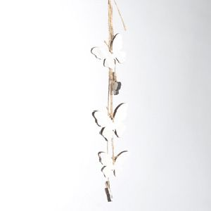 Dekohänger Schmetterlinge WEISS 83162 Länge=46cm Holz