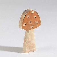 Pilz Browny / Fliegenpilz 66452 Dekopilz 7x2x14,5cm Holz mit Rost