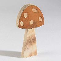 Pilz Browny / Fliegenpilz 66453 Dekopilz 9,5x2x18cm Holz mit Rost