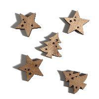 Streusortiment Stars NATUR 70237 5x0,8cm Stern/Tanne