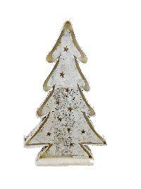 Birkendeko mit LED-Beleuchtung 15635 / Indoor / zum Stellen Baum L=28cm B=9cm Höhe=66 cm
