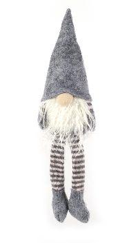 Wichtel Kantenhocker GRAU 07 13cm Wollstrick