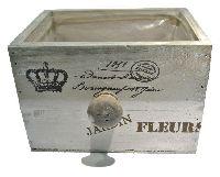 Schubladenbox JARDIN FLEUR VINTAGE 12682 Holz 19x15xH12cm Innenfolie