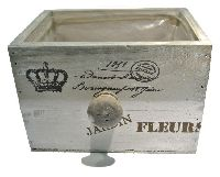 Schubladenbox JARDIN FLEUR VINTAGE 12682 Holz 23x19xH14cm Innenfolie