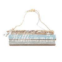 Schild Mare Willkommen maritim 36117 Holz 20x1xH7cm (gemess.ohneSchnur)