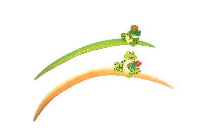 Stecker mit Frosch grün / gelb 2 Modelle