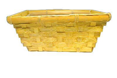 Bambuskorb rechteckig GELB 20x12x9cm