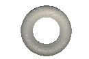 Styroporhalbringe Styropor Ø 30x6cm Ring flach