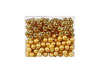 Glaskugeln / Christbaumkugel 12004 GOLD GLANZ/MATT 20mm Draht Spiegelbeeren
