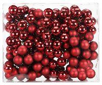 Glaskugeln / Christbaumkugel 12319 CHIANTI/WEINROT 20mm Draht Spiegelbeeren