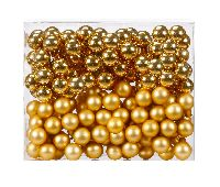 Glaskugeln / Christbaumkugel 1204 GOLD combi 30mm Draht Spiegelbeeren