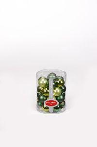 Glaskugeln / Christbaumkugel 17082 CHRISTMAS GREENS MIX 30mm 28Stück GRUEN