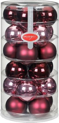 Glaskugeln / Christbaumkugel 15248 Berry Kiss 60mm  24Stück