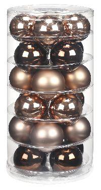 Glaskugeln / Christbaumkugel 15101 BRAUN-ELEGANT-LOUNGE-MIX 60mm  24Stück