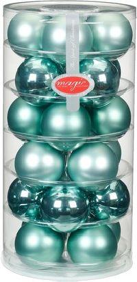 Glaskugeln / Christbaumkugel 15247 Winter Jade - mintgrün 60mm  24Stück