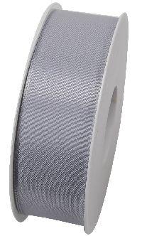 Basic ohne Draht / Taftband HELLGRAU 05 40mm 50m