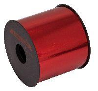 Kräuselband metallic, Ziehband ROT 01 Geschenkband 100mm 50 Meter