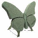 Oasis® Bioline® Holzboden u. Aufstellvorrichtu Schmetterling 56x40x6cm