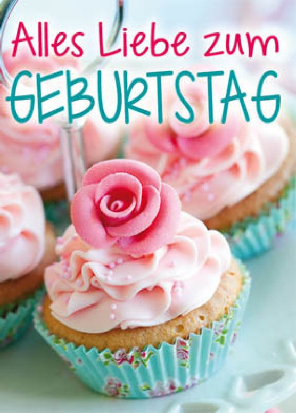 Minikarten Alles Liebe zum Geburtstag Pictural mit Klammer