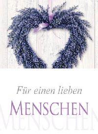 Minikarten Für einen lieben Menschen Delicato mit Holzklammer K8525